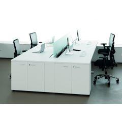 Bureauopstelling Float 4 werkplekken