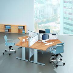Bureauopstelling Cosa 3 werkplekken