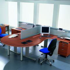 Bureauopstelling Focus 2 werkplekken