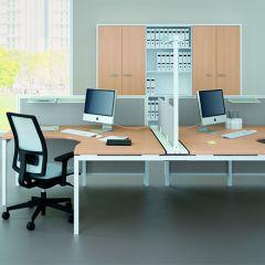 Bureauopstelling Medio 2 werkplekken