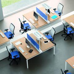 Bureauopstelling Medio duo werkplekken