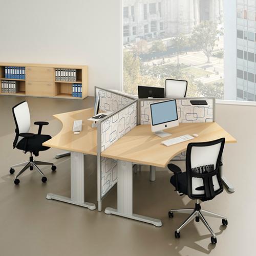 Hoekbureau cosa symmetrisch werkplek for Ladenblok noten