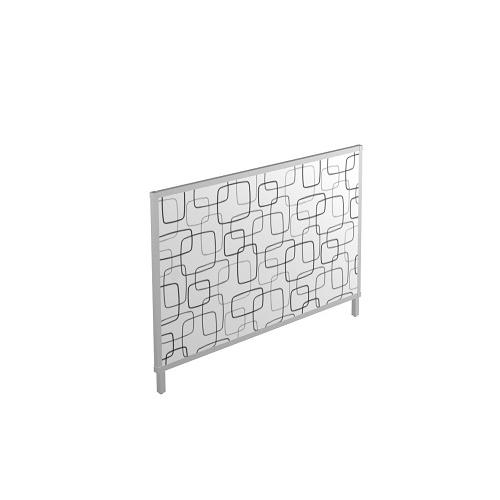 Scheidingswand 109cm hoog Stof met patroon