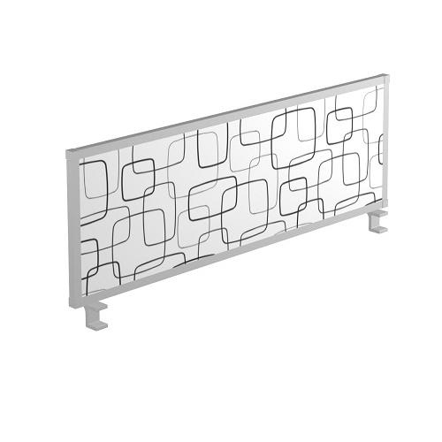Scheidingswand 54cm hoog Stof met patroon