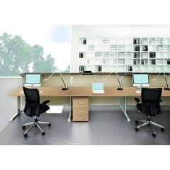 Bureauopstelling Cosa trio werkplekken