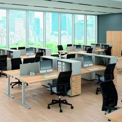 Bureauopstelling Econ 4 werkplekken