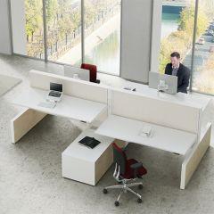 Bureauopstelling Max cabinet 4 werkplekken