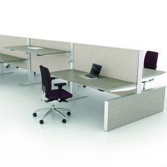 Bureauopstelling Max panel 4 werkplekken