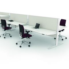 Bureauopstelling Max t-range 4 werkplekken