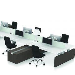 Bureauopstelling Scenario cubes met 4 werkplekken